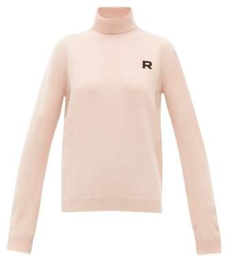 Rochas Logo Applique Roll Neck Cashmere Sweater - Womens - Light Pink