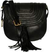 Fossil Women's Emi Leather Crossbody Saddle Bag Leather Cross-Body Baguette - Black