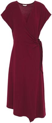 Joie Wrap-effect Stretch-jersey Midi Dress