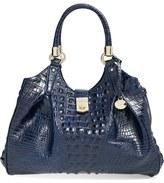 Brahmin 'Elisa' Croc Embossed Leather Shoulder Bag