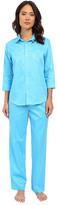 Lauren Ralph Lauren Sateen 3/4 Sleeve Pajamas