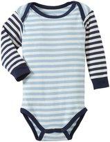 giggle Striped Lap Shoulder Bodysuit (Baby) - Blue-6-9 Months