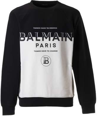Balmain Things Have To Change Sweatshirt
