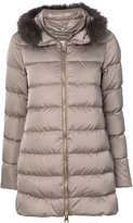 Herno detachable fur collar puffer jacket