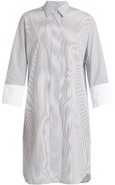 Jil Sander Canvas striped cotton shirtdress