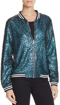 Aqua Sequin Bomber Jacket - 100% Exclusive