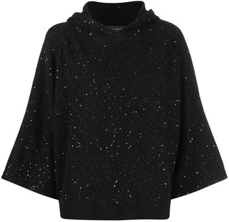 Fabiana Filippi Sequin-Embellished Hooded Sweater