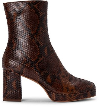 Dolce Vita Eden Snakeskin-Embossed Leather Boots