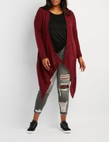 Charlotte Russe Plus Size Shaker Stitch Open-Front Cardigan