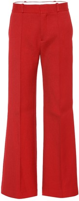 See by Chloe Cotton-blend wide-leg pants