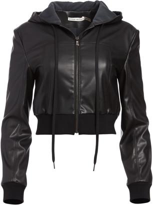 Alice + Olivia Paulie Vegan Leather Jacket