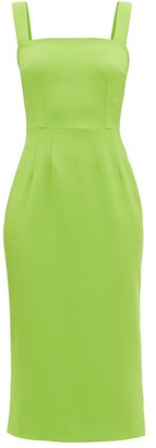Dolce & Gabbana Square-neck Cady Pencil Dress - Green