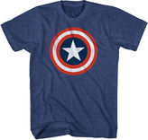 JCPenney Novelty T-Shirts Marvel Captain America Shield Graphic Tee
