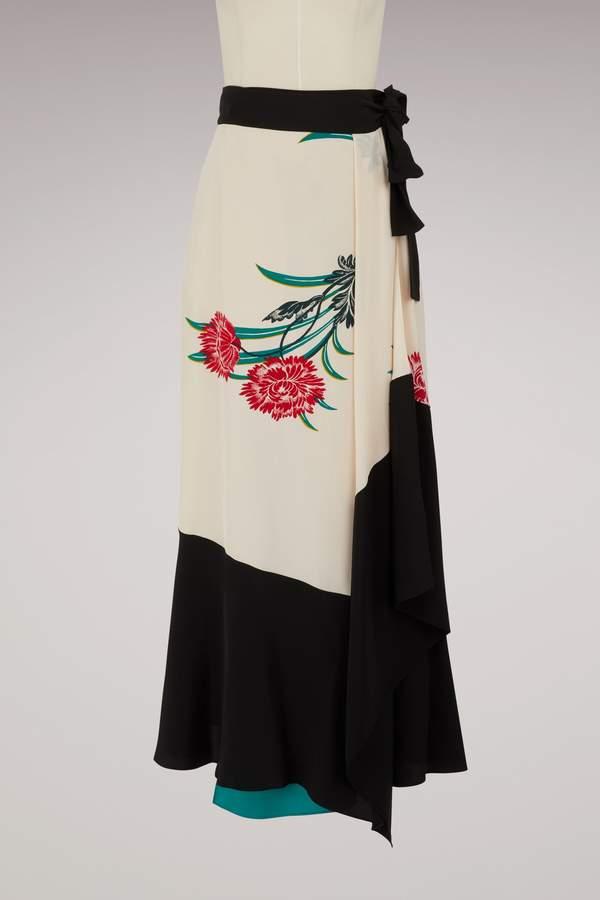 Diane von Furstenberg Long silk skirt