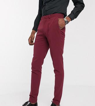 ASOS DESIGN Tall super skinny suit pants in burgundy