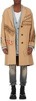 R 13 Men's Graffiti Wool Topcoat