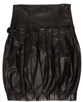 Krizia Pleated Leather Skirt