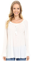 Adrianna Papell Long Sleeve Peasant Top