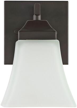 Jonathan Y Designs Staunton 5In 1-Light Iron/Glass Modern Cottage Led Vanity Light