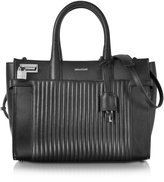 Zadig & Voltaire Black Leather Candide Medium Tote Bag