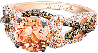 LeVian Le Vian 14K Rose Gold 1.96 Ct. Tw. Diamond & Peach Morganite Ring