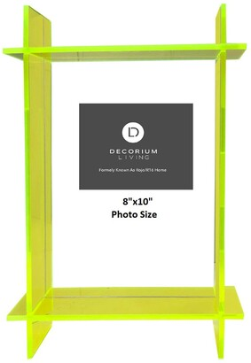 """R16 Home Neon Green Lucite 8"""" x 10"""" Frame"""