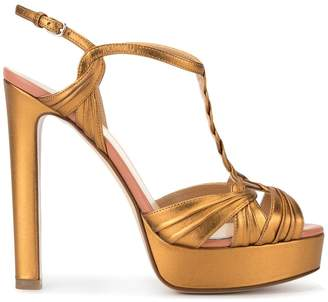 Francesco Russo high heel platform sandals