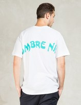 HOMBRE Nino White S/S Backprint Print T-Shirt