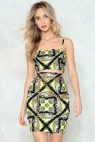 Nasty Gal nastygal That Ain't the Scarf of It Crop Top and Skirt Set