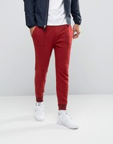 Abercrombie & Fitch Cuffed Joggers Moose Logo Embroidery In Red