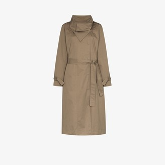 Frankie Shop Wing Collar Trench Coat