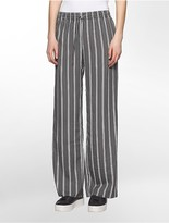 Calvin Klein Striped Wide Leg Pants
