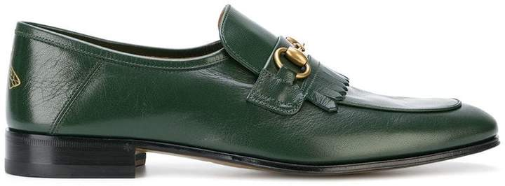 Gucci Leather fringe Horsebit loafers