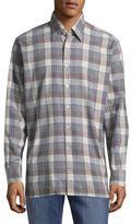 Canali Casual Plaid Cotton Button-Down Shirt