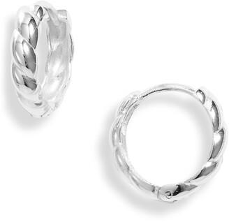 Argentovivo Argentino Vivo Sterling Silver Classic Twist Hoop Earrings