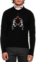 Dolce & Gabbana Dancing Skeletons Virgin Wool Sweater