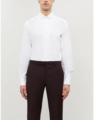 Corneliani Regular-fit cotton and silk-blend shirt
