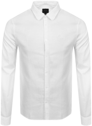 Armani Exchange Slim Fit Long Sleeve Shirt White
