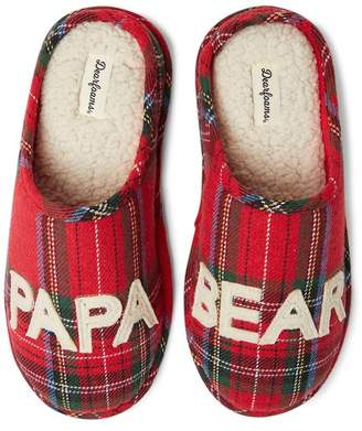 Dearfoams Papa Bear Plaid Slipper