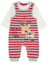 George Christmas Dungarees and Bodysuit Set