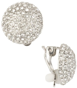 Linea by Louis Dell'Olio Crystal Button Earrings