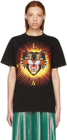 Gucci Black 'Modern Future' Angry Cat T-Shirt