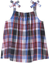 Joe Fresh Toddler Girls' Plaid Bow Strap Tank, Blue (Size 2)