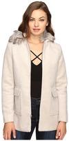 Brigitte Bailey Orla Zip-Up Coat with Faux Fur