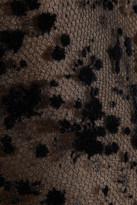 Giambattista Valli Flocked tulle pencil skirt