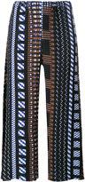 Issey Miyake printed pants - women - Polyester - 2