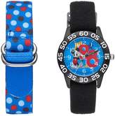 Disney Disney's Mickey Mouse Boys' Time Teacher Watch & Interchangeable Band Set