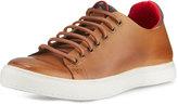 Donald J Pliner Prenton Leather Low-Top Sneaker, Saddle