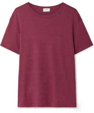 RE/DONE 70s Oversized Supima Cotton-jersey T-shirt - Burgundy