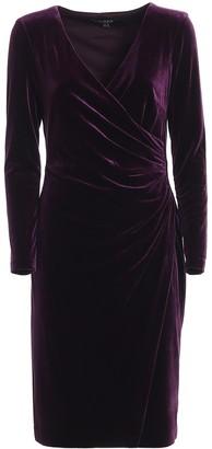 Ralph Lauren Wrap Velvet Dress